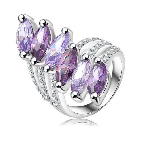 Lila szirmok -  divatgyűrű
