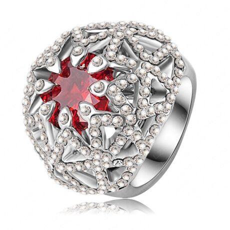 Napfelkelte -  divatgyűrű - piros