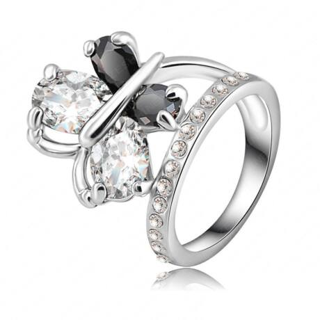 """""""Pillangó"""" -  divatgyűrű - fehér"""