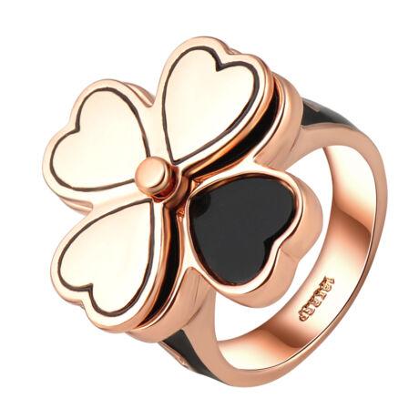 Szerencsehozó-  divatgyűrű - fekete