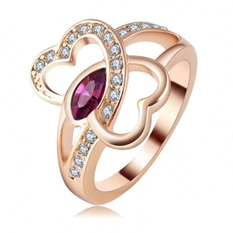 Love- Swarovski kristályos divatgyűrű - bordó