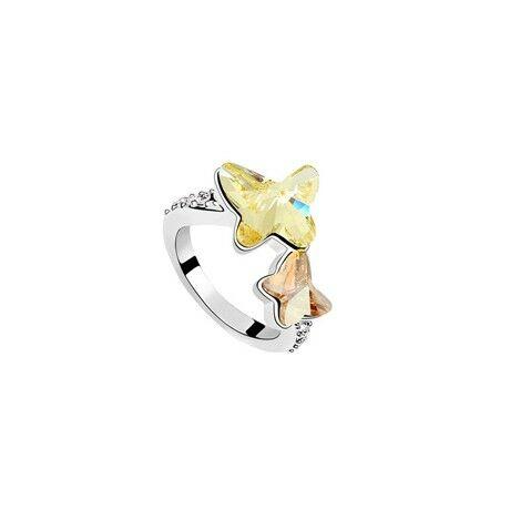 Pillala - sárga - Swarovski kristályos - Gyűrű