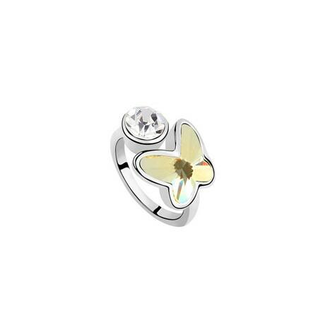 Lillien - sárga - Swarovski kristályos - Gyűrű