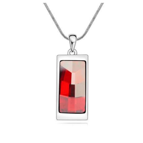 Csodakő- piros- Swarovski kristályos nyaklánc