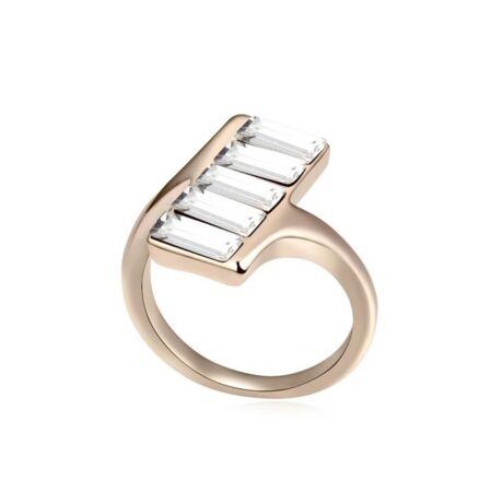 Passo - fehér- Swarovski kristályos - Gyűrű
