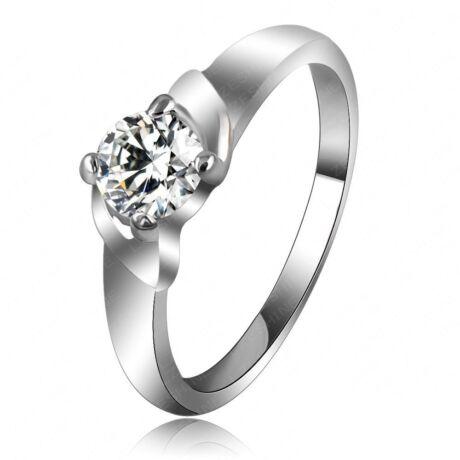 Simple - divatgyűrű - fehér