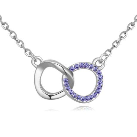 Összefogás - lila- Swarovski kristályos nyaklánc