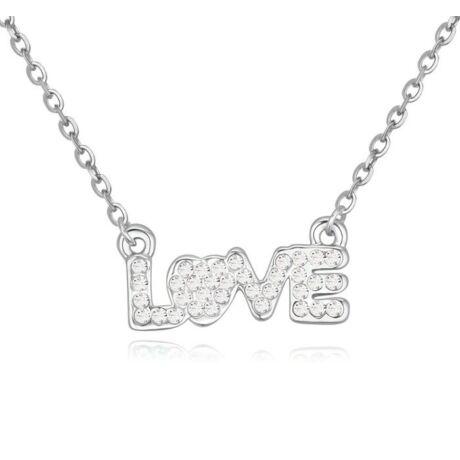 Love - fehér- Swarovski kristályos nyaklánc
