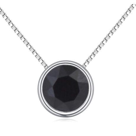 Egyszerü kristály -fekete- Swarovski kristályos - nyaklánc