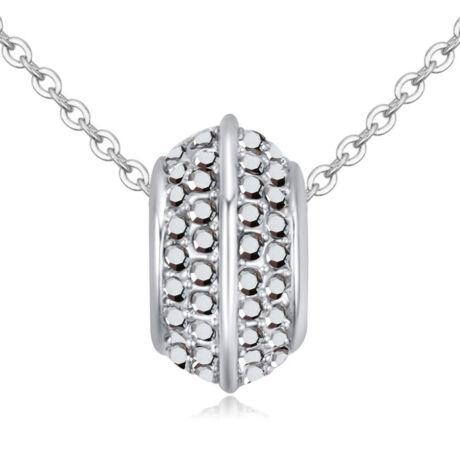 Varázskarika- füst- Swarovski kristályos nyaklánc - ezüst