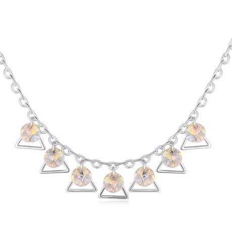 Harang- színjátszófehér-Swarovski kristályos - nyaklánc