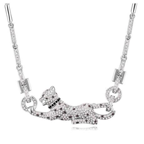 Hópárduc - nyaklánc - Swarovski kristályos