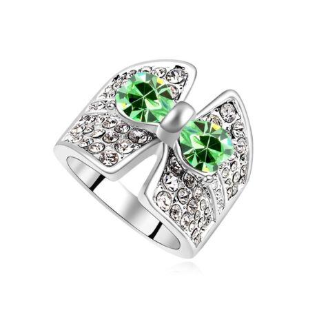 Luna.- zöld- Swarovski kristályos-gyűrű