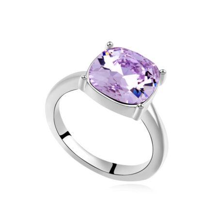 Óriás kristály- lila- Swarovski kristályos - Gyűrű
