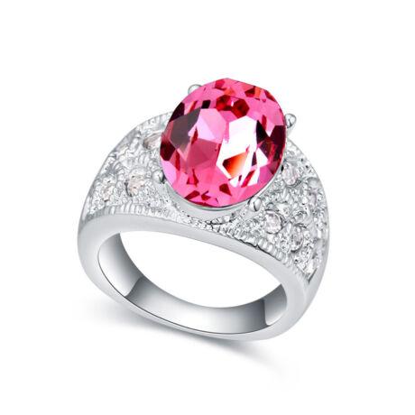 Margo- rózsaszín- Swarovski kristályos - Gyűrű