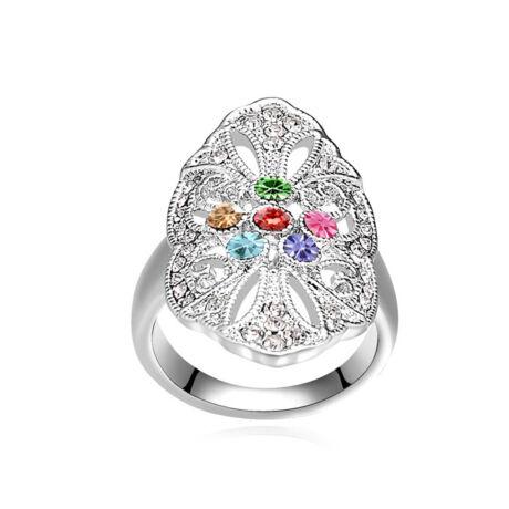 Nüx- színes- Swarovski kristályos - Gyűrű