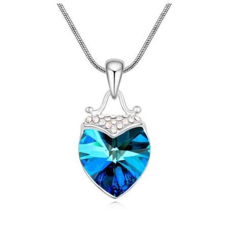 Mámor- színjátszós kék- Swarovski kristályos nyaklánc