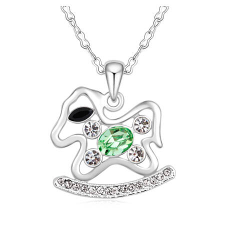 Gyerekkorom Swarovski kristályos nyaklánc-zöld