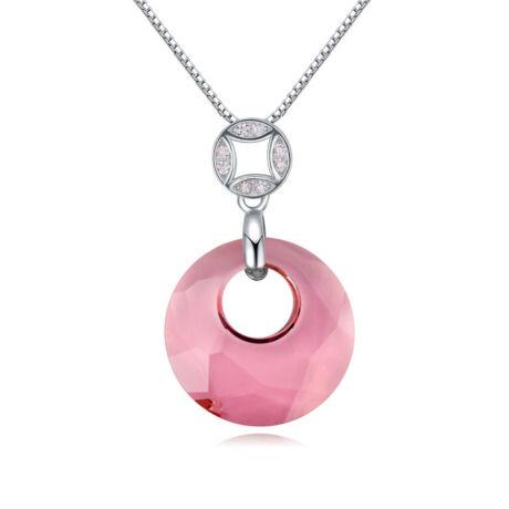 Ring- rózsaszín- Swarovski kristályos nyaklánc