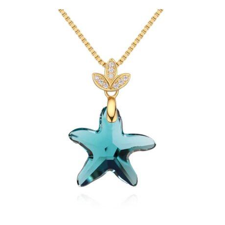 Star- Swarovski kristályos ezüst nyaklánc - kék