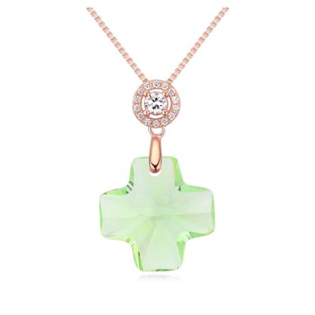 Diana- Swarovski kristályos ezüst nyaklánc-zöld