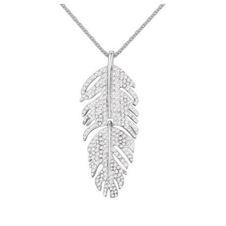 Piuma-fehér-  Swarovski kristályos nyaklánc