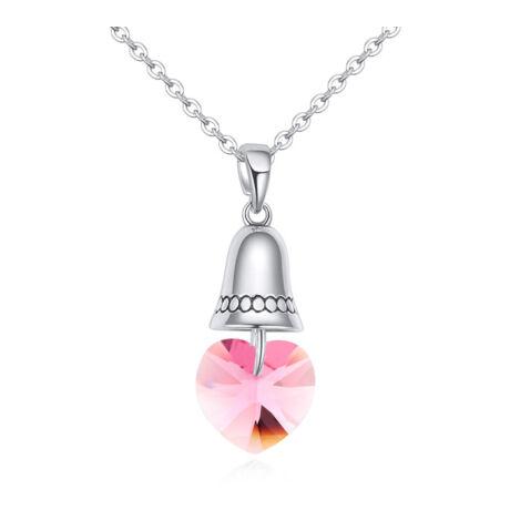 The bell of the love- rózsaszín-  Swarovski kristályos nyaklánc