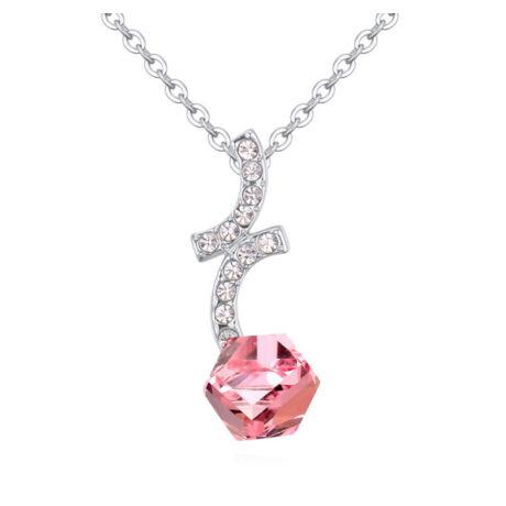 Magic- rózsaszín-  Swarovski kristályos - Nyaklánc