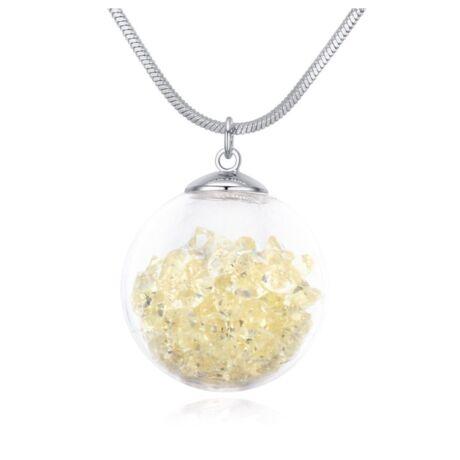 Million- Swarovski kristályos nyaklánc-halványsárga