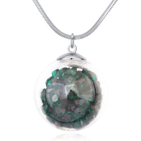 Million- Swarovski kristályos nyaklánc-zöld