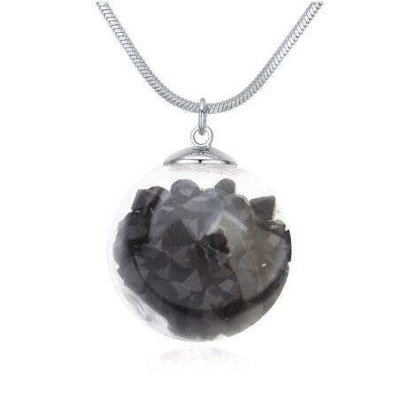 Million- Swarovski kristályos nyaklánc-fekete