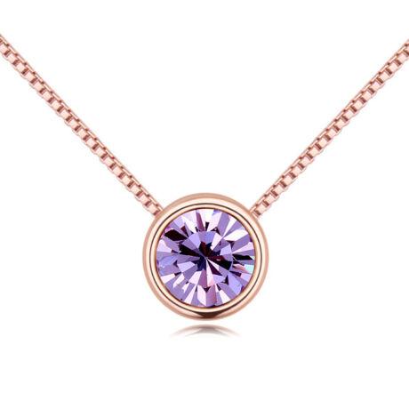 Lelkek tükre- lila- Swarovski kristályos - Nyaklánc- arany