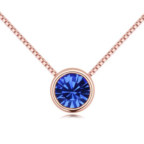 Lelkek tükre- kék- Swarovski kristályos - Nyaklánc- arany