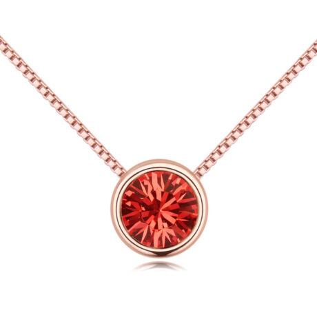 Lelkek tükre- piros- Swarovski kristályos - Nyaklánc- arany