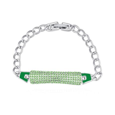 Crystal pen-Swarovski kristályos karkötő-zöld