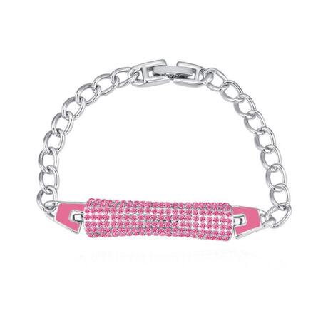 Crystal pen-Swarovski kristályos karkötő-rózsaszín