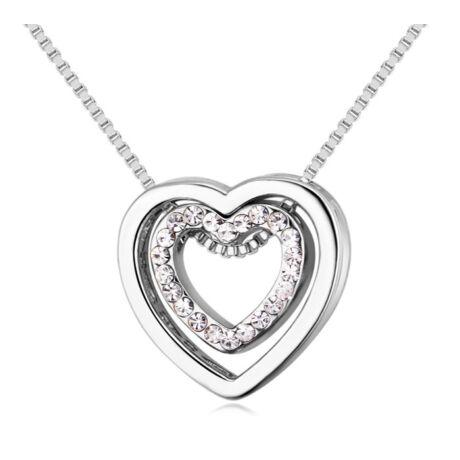 Aphrodité-ezüst - Swarovski kristályos nyaklánc - fehér