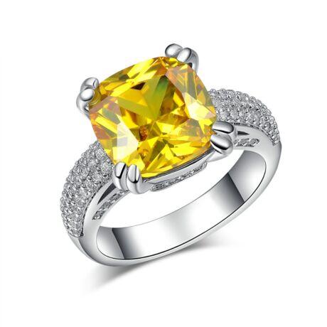Chasan - cirkóniaköves divatgyűrű - sárga