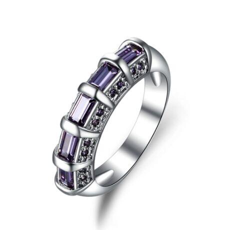 Pamyel - cirkóniaköves divatgyűrű - lila