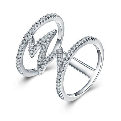 Giuditta - cirkóniaköves divatgyűrű - fehér