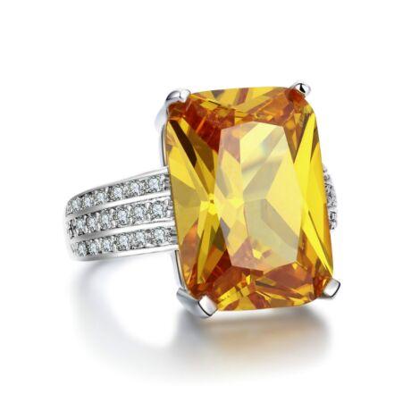 Fiammetta - cirkóniaköves divatgyűrű - sárga
