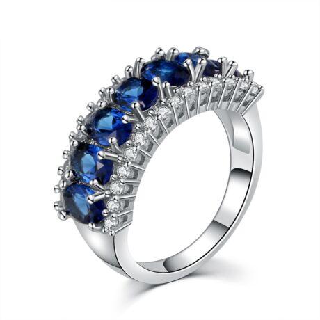 Sissott - cirkóniaköves divatgyűrű - kék