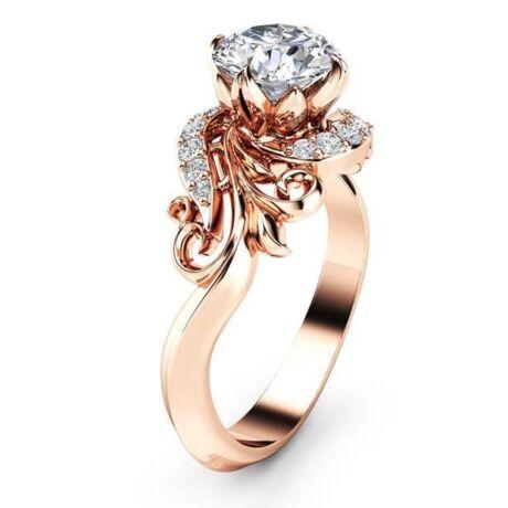 Zara -  cirkóniaköves divatgyűrű - borostyán