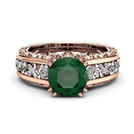 Adrina-  cirkóniaköves divatgyűrű-zöld