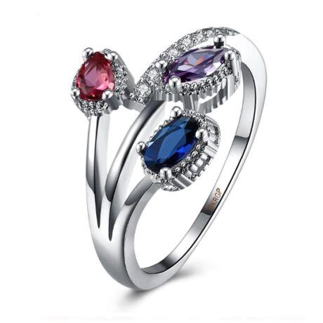 3 szín -  cirkóniaköves divatgyűrű