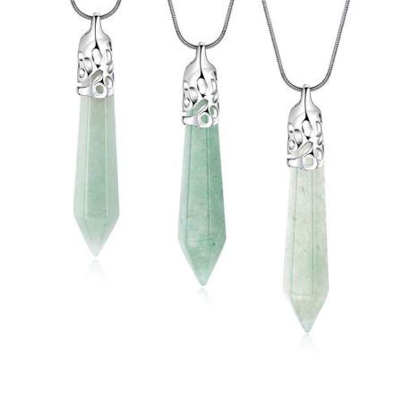 Cirádás ásvány nyaklánc - aventurin - zöld