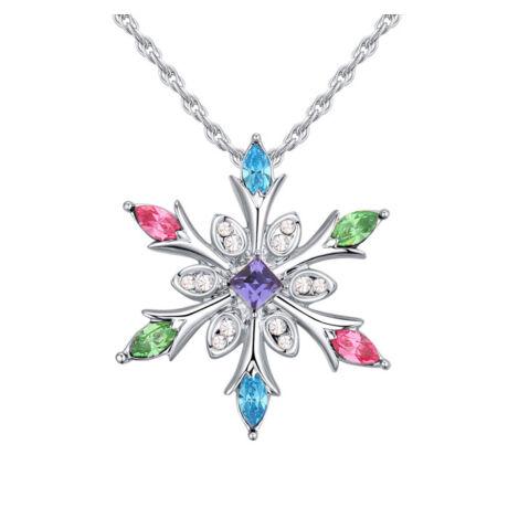 Ice flower - színes - Swarovski kristályos nyaklánc