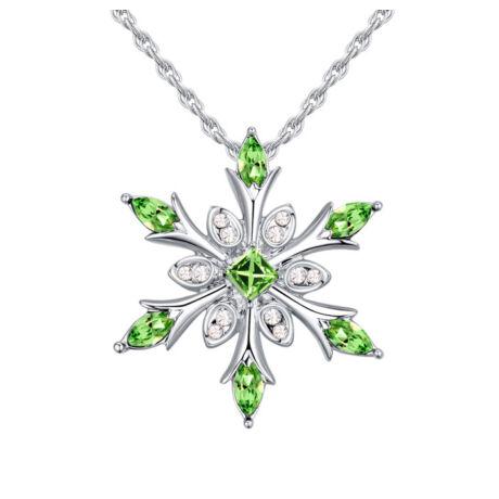 Ice flower - zöld - Swarovski kristályos nyaklánc