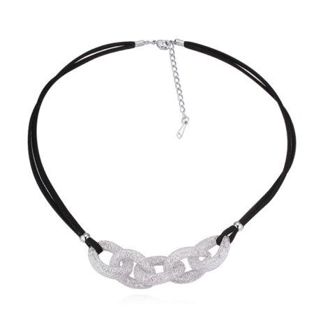 Infinito mesh nyaklánc- Swarovski kristályos- ezüst - fehér