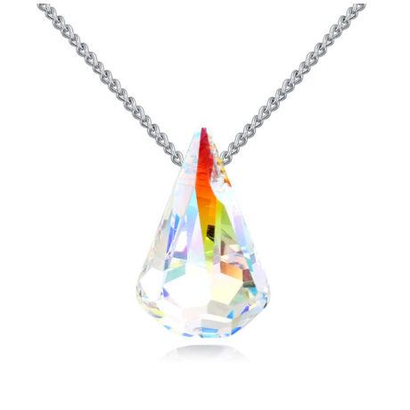 Playful Wish - Swarovski kristályos nyaklánc - színjátszó fehér